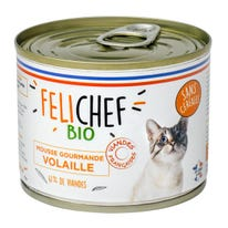 Mousse gourmande volaille chat