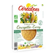 Galette courgette curry 2x90g