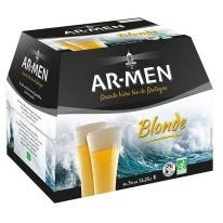 Pack de bières blondes Ar Men 25cl (12)
