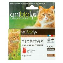 Pipettes antiparasites chat 2x0,6ml