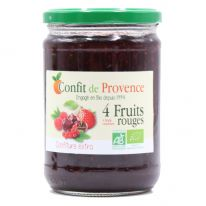 Confiture extra quatre fruits rouges