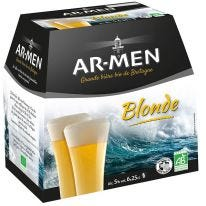 Pack de Bière blonde Ar Men 25cl (6)