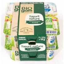 Yaourt nature format familial - 8x125g