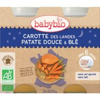 Carotte patate douce blé pot 2x200g