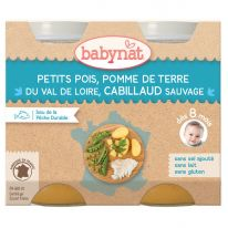 Petits pois cabillaud 2x200g