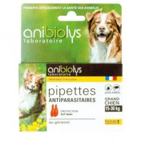 Pipettes antiparasites grand chien 2x2ml