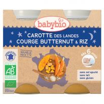 Carotte courge butternut riz pot 2x200g